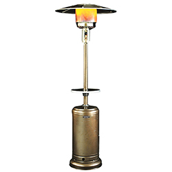 Original SUNHEAT Round Patio Heater - Golden Hammered