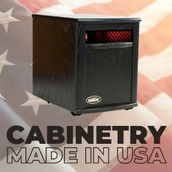 Original SUNHEAT USA1500 Infrared Heater - Black
