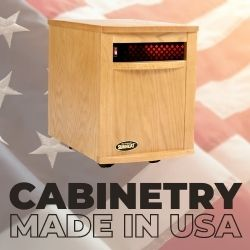 Original SUNHEAT USA1500 Infrared Heater - Golden Oak